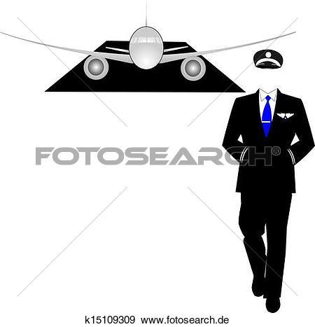 Weg gehen clipart png black and white stock Stock Illustration - pilot, weg gehen, von, seine, eben k15109309 ... png black and white stock