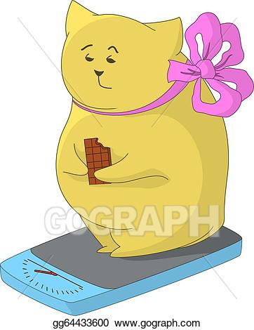 Weigh yourself clipart png library library Clip Art Vector - Fat animal on the scales. Stock EPS ... png library library