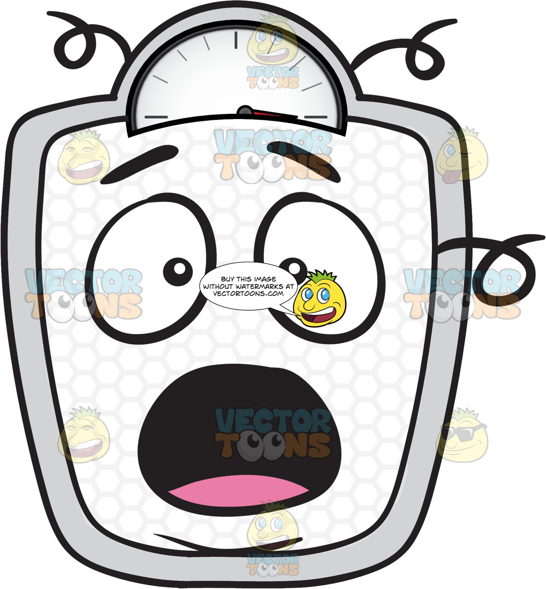 Weighing device clipart image royalty free stock Startled Weighing Scale Emoji image royalty free stock