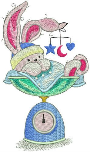 Weighing machine clipart animals graphic black and white library Bunny weighing embroidery design | Animals embroidery ... graphic black and white library