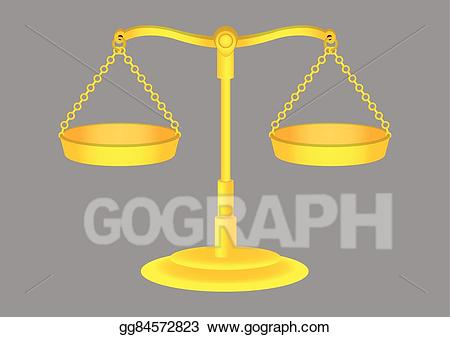 Weighing scale old fashioned clipart banner stock EPS Illustration - Old fashioned golden weighing scales ... banner stock