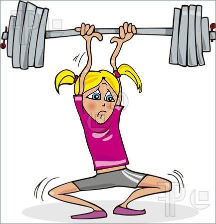 Weight lifting animated clipart svg transparent stock Women+Strength+Training+Clip+Art | Illustration of Cartoon ... svg transparent stock