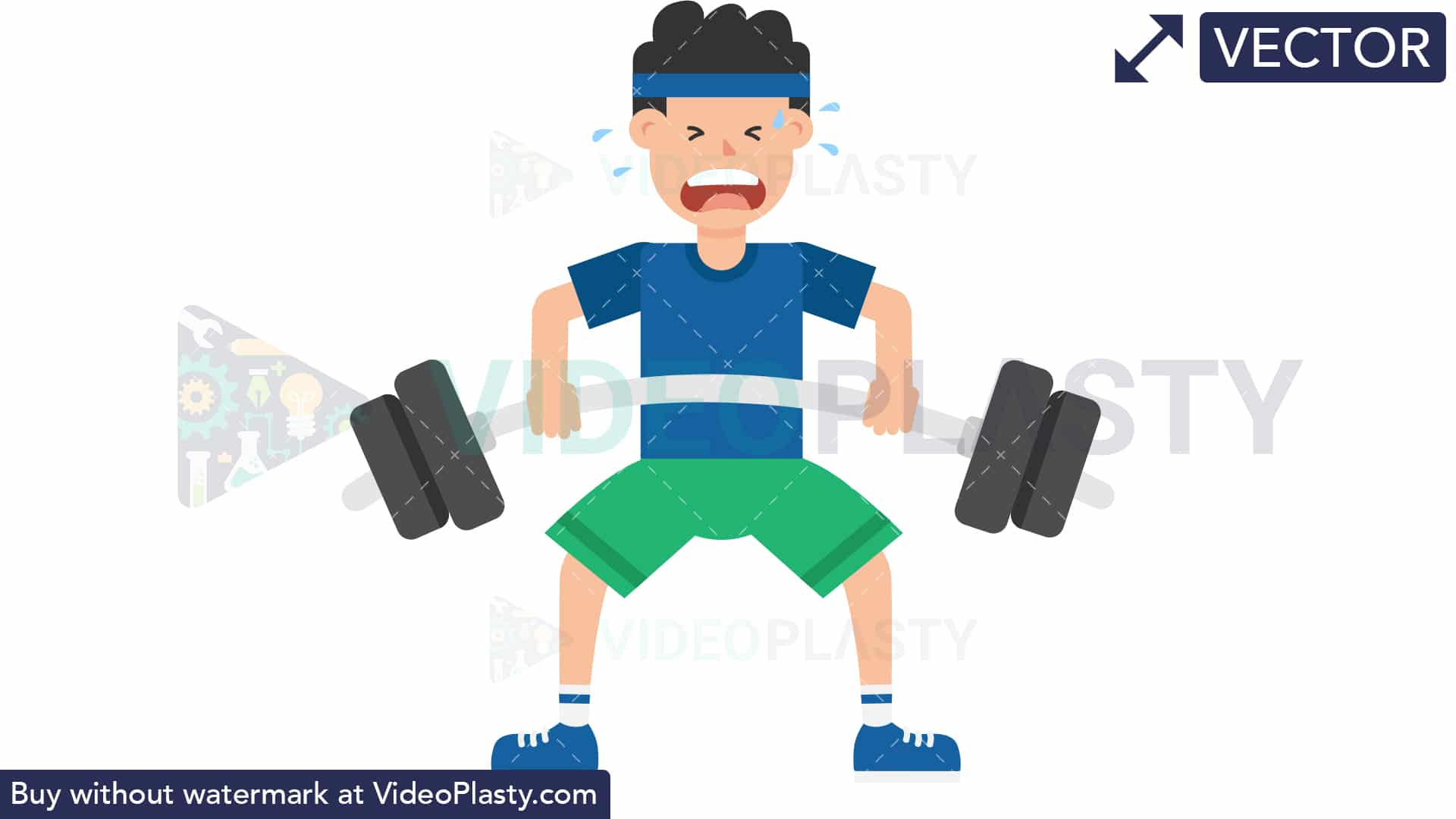 Weight lifting clipart no copyright png freeuse Man Lifting Barbell [VECTOR] png freeuse