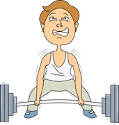 Weight lifting clipart struggle image black and white download Search Results for weightlifting - Clip Art - Pictures ... image black and white download