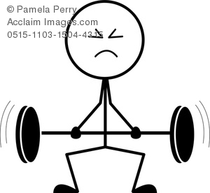 Weight lifting clipart struggle vector freeuse Clip Art Image of a Stick Figure Lifting Weights vector freeuse