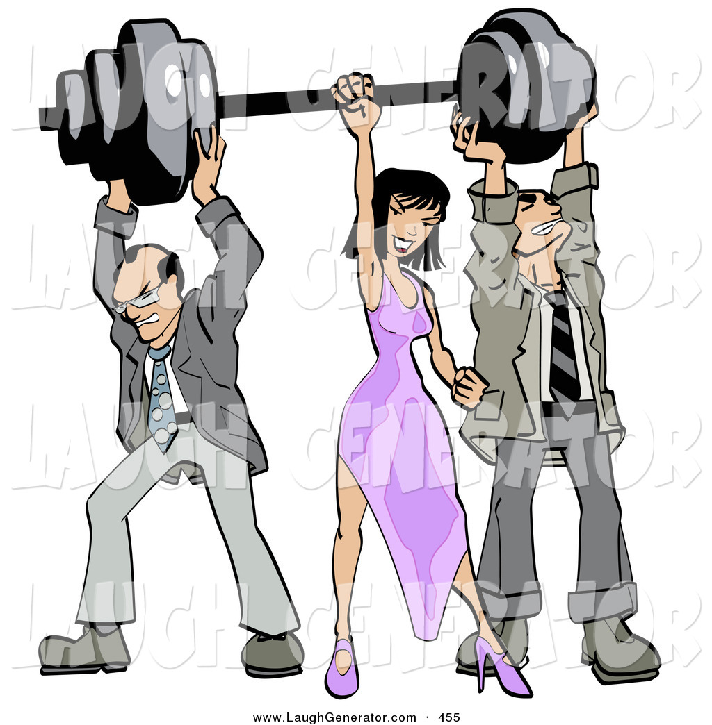 Weight lifting clipart struggle clip art transparent download Humorous Clip Art of a Pair of Caucasian Struggling ... clip art transparent download
