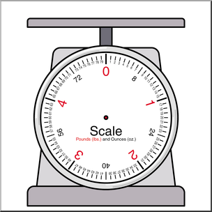 Weight pound clipart banner library library Clip Art: Weights and Measures: Pound Blank Scale Color I ... banner library library