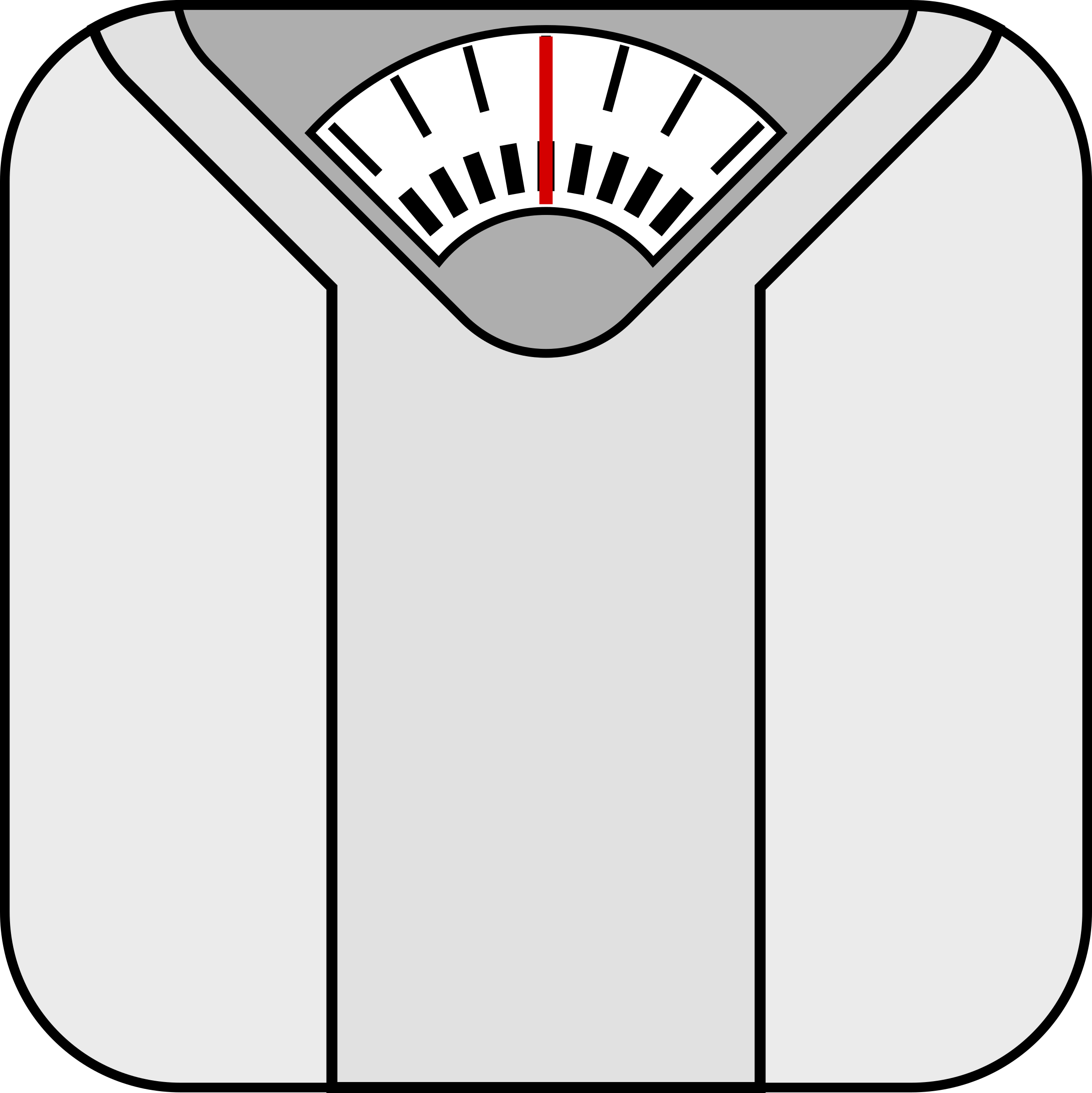 Weight scale clipart drawing