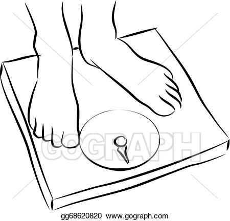 Weight scale clipart drawing banner freeuse stock Drawing - Weighing scale . Clipart Drawing gg68620820 - GoGraph banner freeuse stock