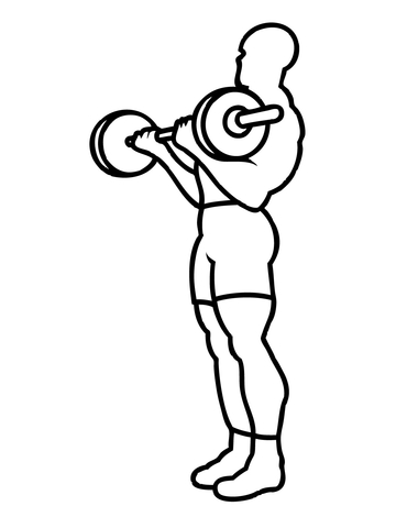 Weighting clipart for coloring banner free library Weight Training Workout coloring page | Free Printable ... banner free library