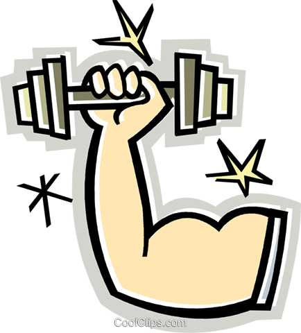 Weightlifting with one arm clipart banner royalty free stock Arm Lifting Weight Clipart banner royalty free stock