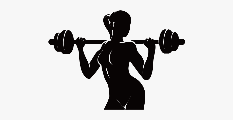 Weights clipart logo jpg transparent Physical Fitness Logo Fitness Centre - Woman Lifting Weights ... jpg transparent