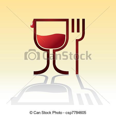 Wein und essen clipart banner download Stock Illustrationen von symbol, Getränk, -, abbildung, essen ... banner download