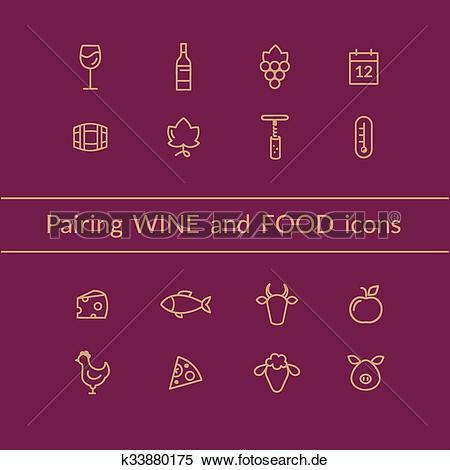 Wein und essen clipart clip art royalty free Clipart - wein, und, essen, paarung, heiligenbilder k33880175 ... clip art royalty free