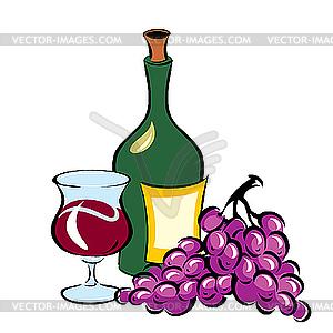 Wein und essen clipart png royalty free download und Traube - Vektor-Clipart / Vektorgrafik png royalty free download