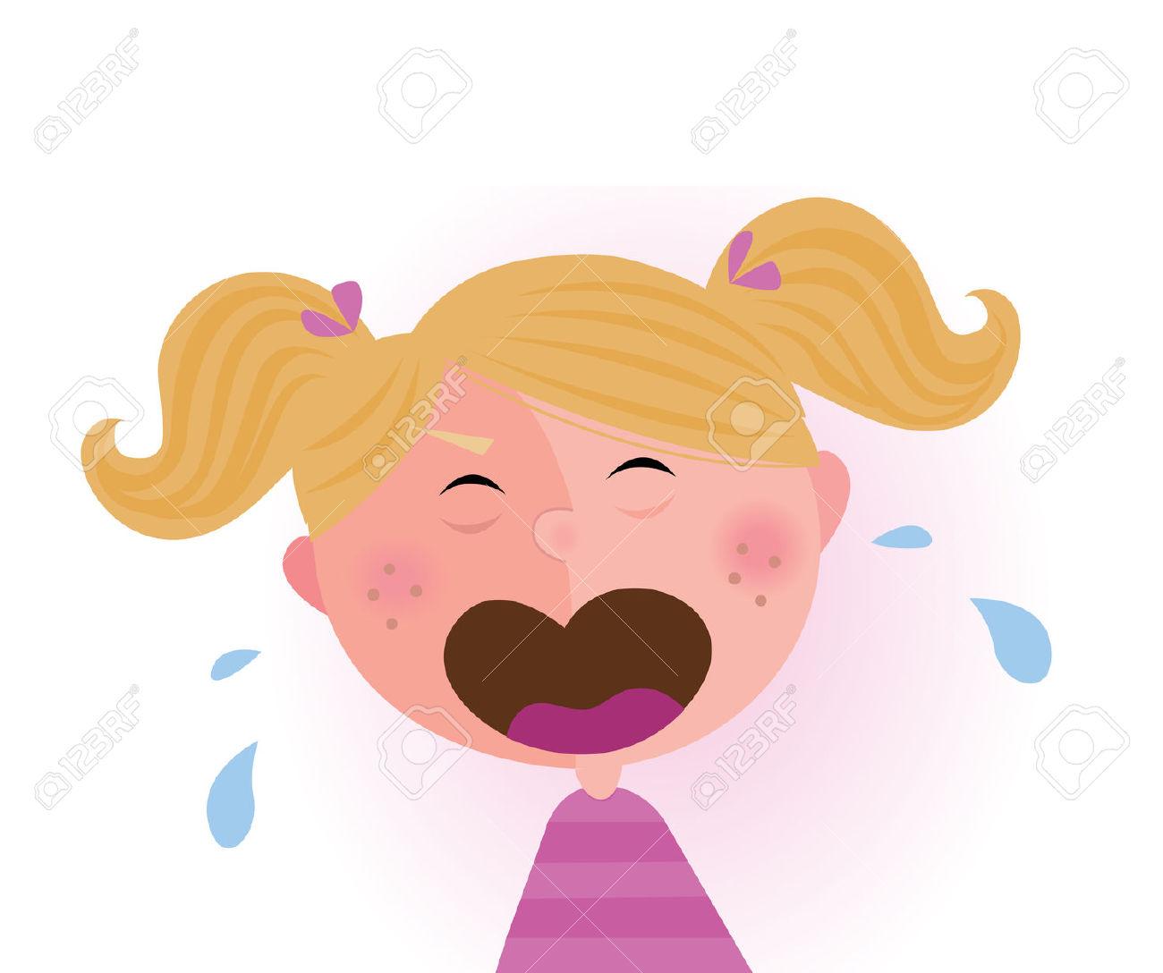 Weinendes kind clipart picture royalty free download Weinendes Baby Girl. Kleines Kind Zu Weinen. Lizenzfrei Nutzbare ... picture royalty free download