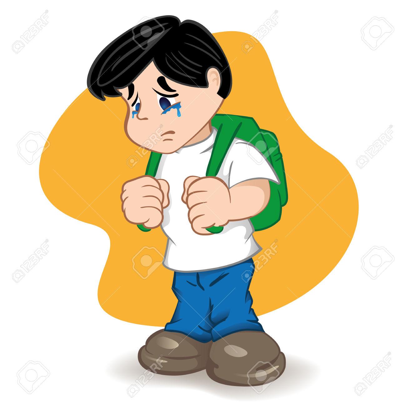 Weinendes kind clipart jpg free stock Illustration Eines Studenten Traurig Und Weinendes Kind. Ideal Für ... jpg free stock