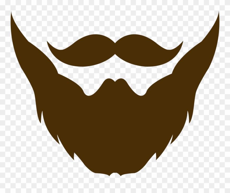 Weird hair clipart svg black and white stock Beard Clipart Brown Beard - Moustache And Beard Logo - Png ... svg black and white stock