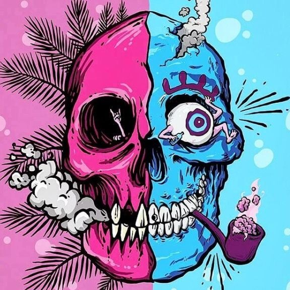 Weird skulls clipart pink clipart royalty free download Pin by Justin Bienvenue, Author on Tripping Skulls   Skull ... clipart royalty free download