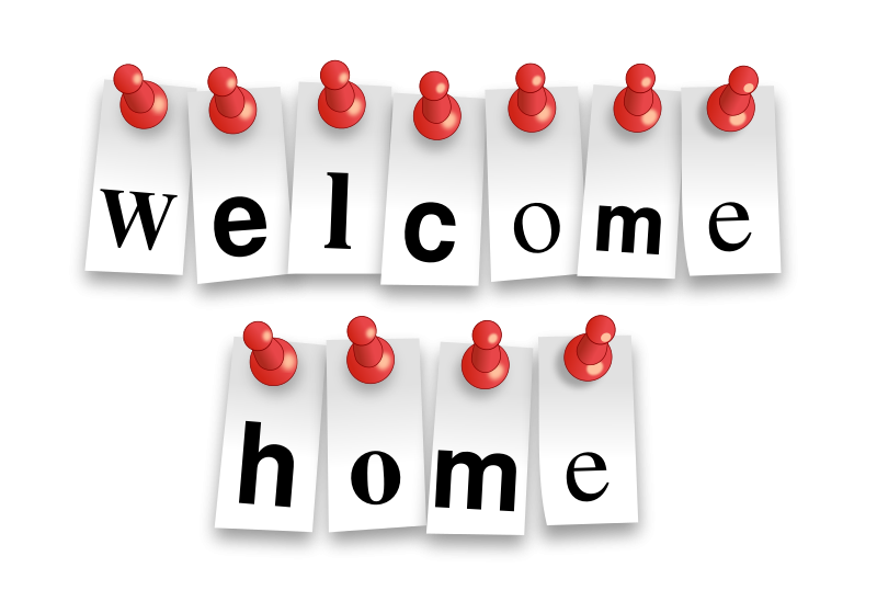 Welcom home clipart svg free download Free Clipart: Welcome Home Notes | bktheman svg free download