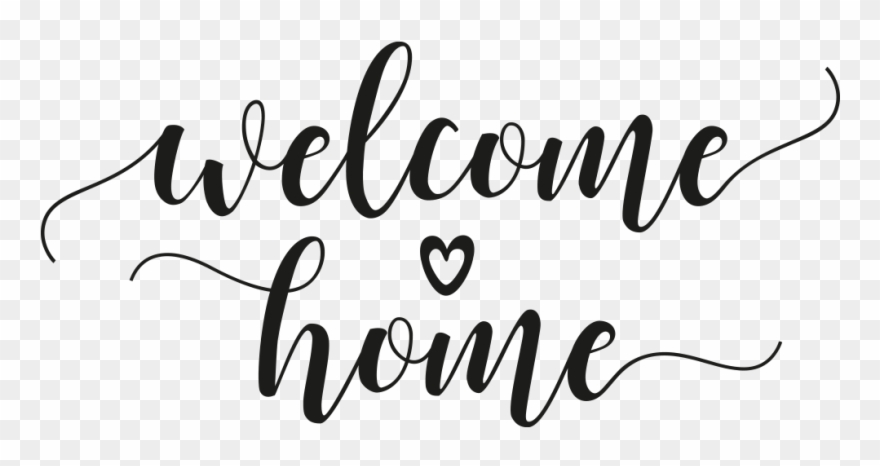Welcom home clipart vector royalty free stock Wandtattoo Welcome Home Mit Herz - Wandtattoo Welcome ... vector royalty free stock