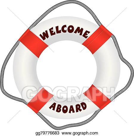 Welcome aboard lifering clipart transparent Clip Art Vector - Welcome aboard lifebuoy. Stock EPS ... transparent