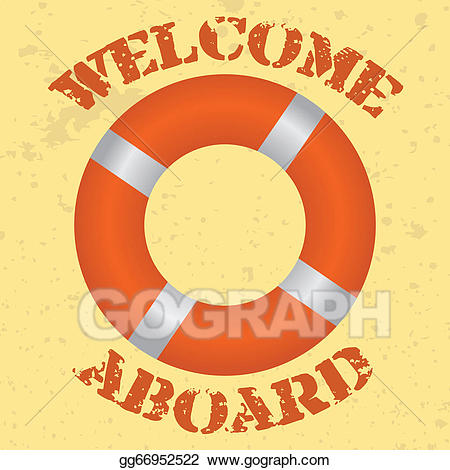 Welcome aboard lifering clipart banner stock Vector Stock - Welcome aboard. Stock Clip Art gg66952522 ... banner stock