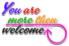 Welcome anytime clipart