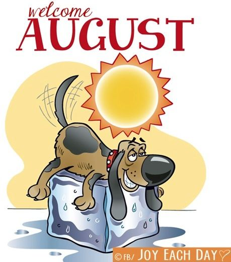 Welcome august clipart image Welcome August! via www.Facebook.com/JoyEachDay | August ... image