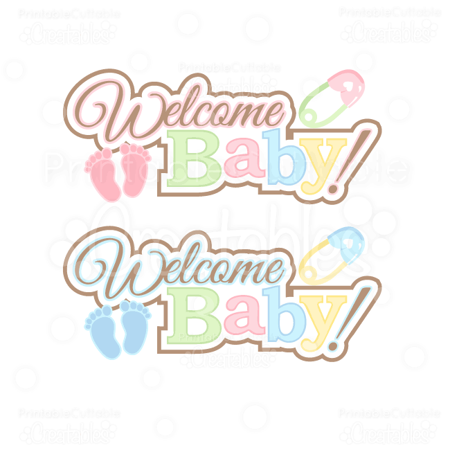 Welcome baby clipart clip art library library Welcome Baby Word Art Title SVG Cut Files & Clipart | SVG ... clip art library library
