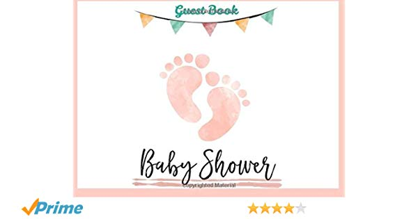 Welcome baby message clipart graphic freeuse download Baby Shower Guest Book for Girl: Baby Guest Book Shower ... graphic freeuse download