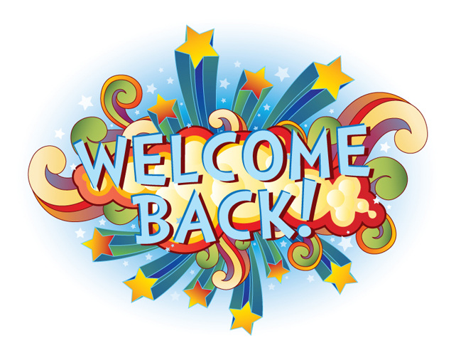 Welcome back clipart images clipart black and white stock Welcome Back after Christmas Break | Georgetown Elementary ... clipart black and white stock