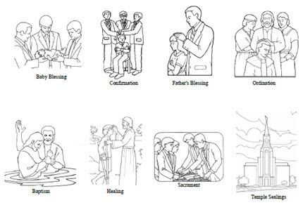 Welcome back to activities at church clipart blessings clip black and white download Priesthood Blessings and Ordinances - Coloring Sheet   Ideas ... clip black and white download