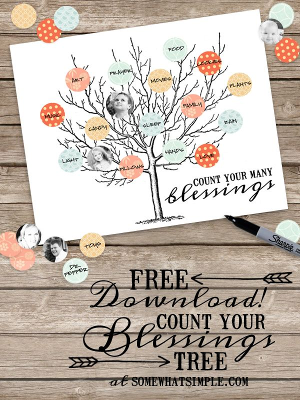 Welcome back to activities at church clipart blessings banner black and white download Count Your Blessings Tree Activity Printable   Thanksgiving ... banner black and white download