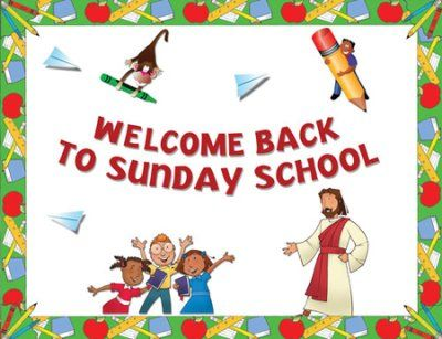 Welcome back to activities at church clipart blessings jpg free Instant Bulletin Board - Welcome Back to Sunday School - PDF ... jpg free