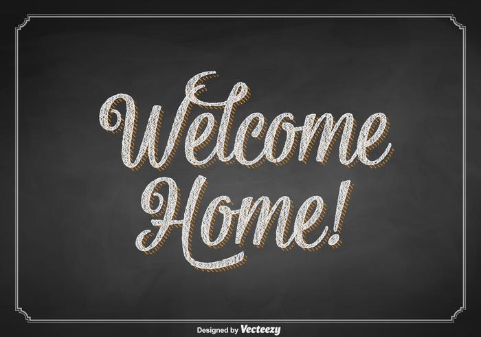 Welcome chalkboard clipart free jpg royalty free library Free Vector Welcome Home Chalkboard Sign - Download Free ... jpg royalty free library