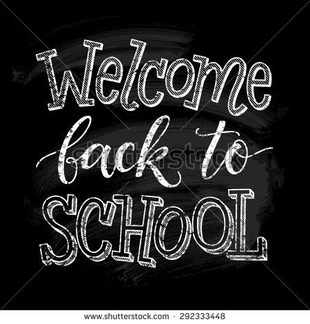 Welcome chalkboard clipart free banner black and white Welcome back to school vector illustration on chalkboard ... banner black and white