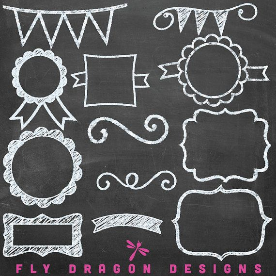Welcome chalkboard clipart free image black and white Free Chalkboard Pennant Cliparts, Download Free Clip Art ... image black and white