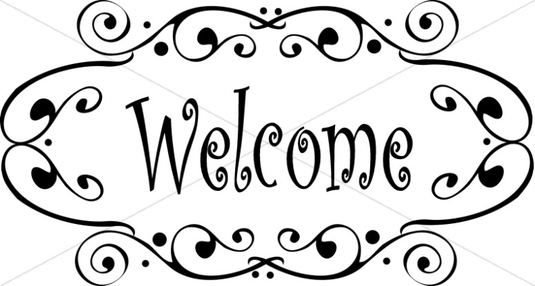 Welcome clipart for church jpg transparent stock Fancy Welcome Image | Church Activity Clipart jpg transparent stock