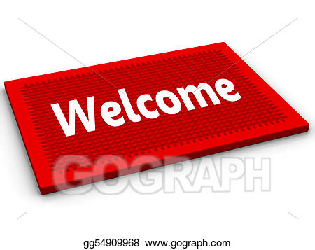 Welcome doormat clipart banner freeuse library Clipart - Welcome. Stock Illustration gg54909968 - GoGraph banner freeuse library