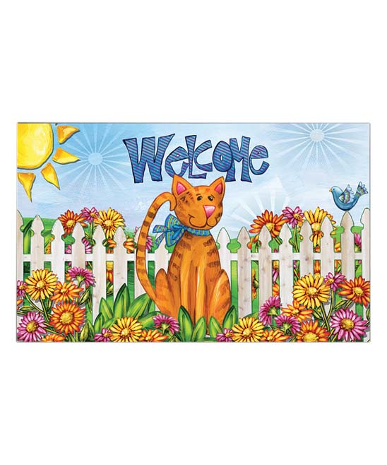 Welcome doormat clipart image freeuse download Briarwood Lane Cat \'Welcome\' Doormat image freeuse download