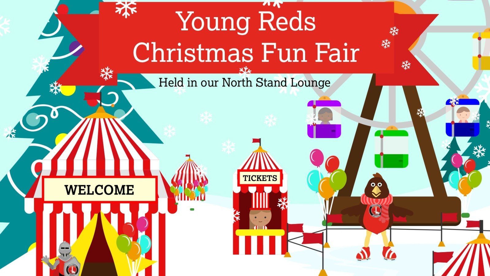 Welcome fair fans clipart image library library Last chance to book your place at the Young Reds Christmas ... image library library