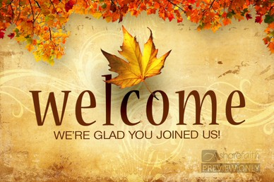 Welcome fall church pictures clipart image free stock Fall Welcome Video | Church Motion Graphics image free stock