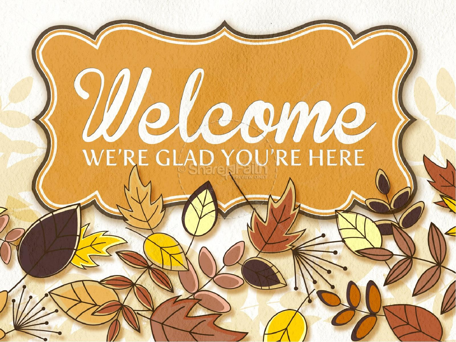 Welcome fall church pictures clipart svg download Fall Picnic Church PowerPoint | Fall Thanksgiving PowerPoints svg download