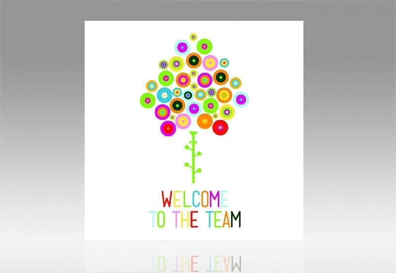 Welcome free clipart tree graphic black and white Welcome To The Team Colorful Tree Clipart - 551*800 - Free ... graphic black and white