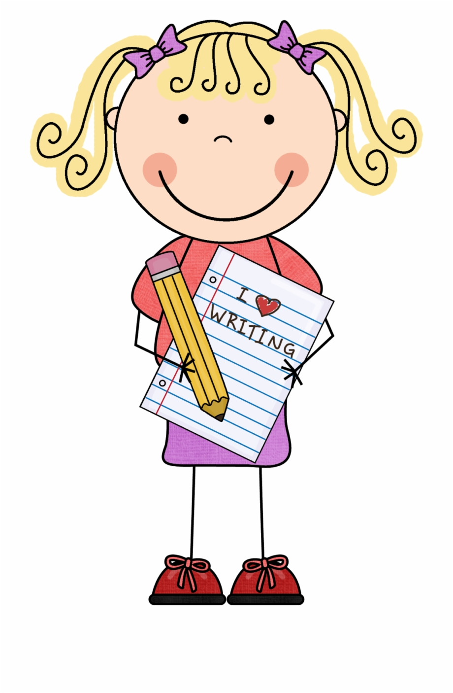 Welcome girl clipart png vector freeuse Bienvenido Lectura/ Welcome Literacy - Girl Writing Clipart ... vector freeuse