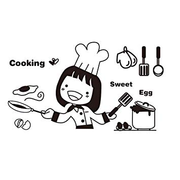 Welcome home cook clipart graphic stock Cyhulu kitchen Cooking Wall Decal, Kawaii Fashion Cartoon ... graphic stock
