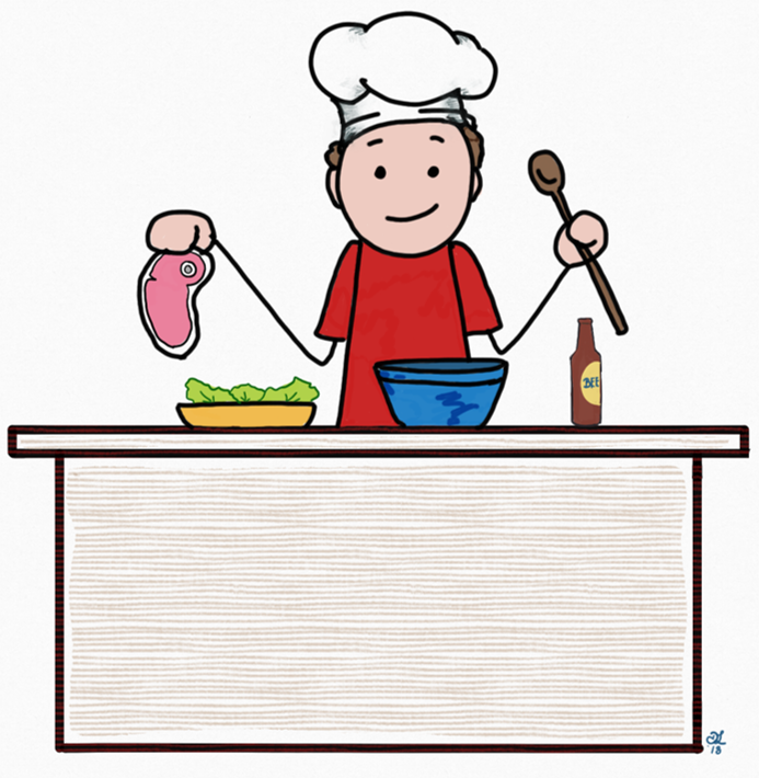 Welcome home cook clipart clip art black and white library Welcome Home Chef! – Contentment and French Fries clip art black and white library