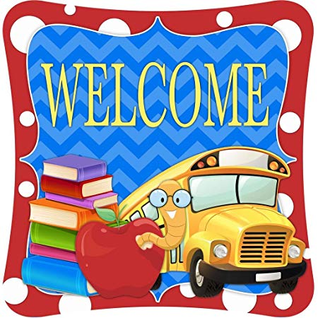 Welcome home from bus clipart vector transparent library Back to school - Book Worm and School Bus Teacher Classroom ... vector transparent library