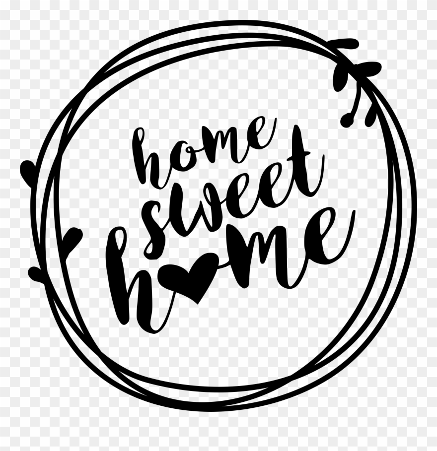 Home sweet home clipart white clip art royalty free stock Home Sweet Home Wreath Printable Sign - Svg Welcome Home ... clip art royalty free stock